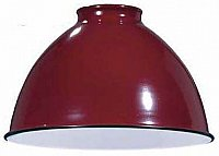 Industrial Style Metal Dome Shade -Red -7-1/16""