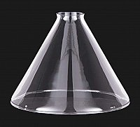 Clear Glass Industrial Cone Shade, 9""