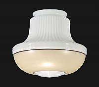 Deco Pendant Shade with Decorative Band -Tan