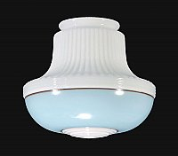 Deco Pendant Shade with Decorative Band, Blue