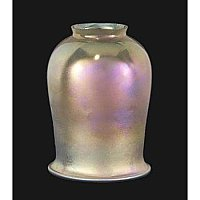 Gold Iridescent Tulip Art Glass Shade
