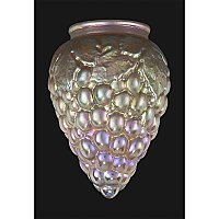 Gold Iridescent Grapes Art Glass Shade