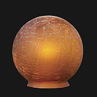 Amber Crackle Glass Deco Ball Globe