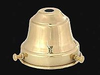 Spun Brass Fixture Shade Holder