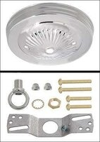 "5"" Polished Nickel Round Light Fixture Ceiling Canopy and Hanging Kit"
