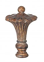 Royal Style Large Lamp Finial, Antique Brass