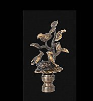 Birds on Tree Branch Lamp Finial