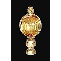 Brass Reeded Lamp Finial