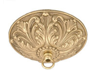Light Fixture Ceiling Canopy - Polished Cast Brass