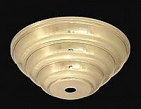 Light Fixture Ceiling Canopy - Polished Stamped Brass