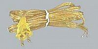 Clear Gold, 18/2 Lamp Cord Set with Plug