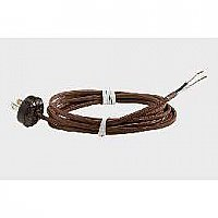 Rayon Lamp Cord Set with Ribbed Plug, Brown