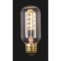 Edison Base Light Bulb with Spiral Style Filament, 40 Watt