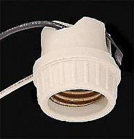 Medium Base Porcelain Snap-In Lamp Holder Socket
