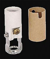 "Keyless Porcelain Candle Socket, 2"" Height"