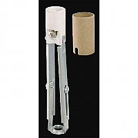 "Keyless Porcelain Adjustable Candelabra Candle Socket, 4-11/16"" to 6"" Height"