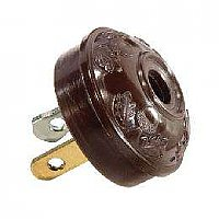 Brown Acorn Style Early Lamp Plug