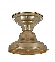 "Schoolhouse Flush Fixture, 6"" Fitter, Unlacquered Brass"