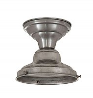 "Schoolhouse Flush Fixture, 4"" Fitter, Unfinished Steel"