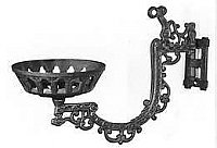 Cast iron reflector wall bracket with Early American/Victorian style