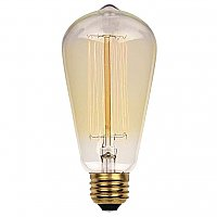 Incandescent Light Bulb: 40 Watt ST20 Timeless Vintage Inspired Edison Light Bulb