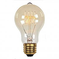 Incandescent Light Bulb: 60 Watt A Shape Timeless Vintage Inspired Light Bulb