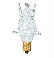 Incandescent Light Bulb: White Starburst Decorative Light Bulb, Candelabra Base, 7 Watt