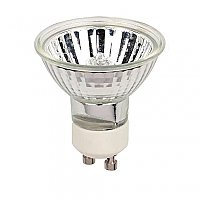 Halogen Light Bulb: 50 Watt MR16 Flood Light Bulb GU10 Base