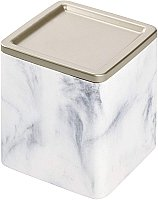 Dakota Collection White Marble Resin Canister