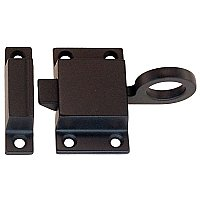 Transom or Cabinet Latch with Box Strike - Oil Rubbed Bronze