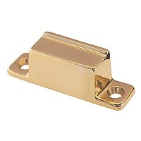 Box Strike for Transom or Large Cabinet Latch - Polished Lacquered Brass