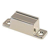 Box Strike for Transom or Large Cabinet Latch - Polished Nickel