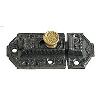Victorian Cabinet Latch - Iron and Brass