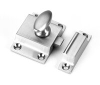 Small Solid Brass Traditional Spring Loaded Cabinet Latch - Multiple Finishes