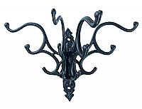 Cast Iron Victorian Folding Hat and Coat Wall Hook