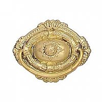 Polished Brass Colonial Revival Drawer Pull