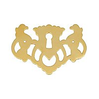Chippendale Willow Keyhole Escutcheon - Polished Unlacquered Brass
