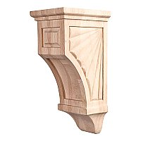 Scalloped Mission Style Corbel, Small