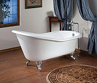 "Cheviot Cast Iron 54"" Clawfoot Slipper Bathtub"