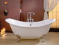 "Cheviot Cast Iron 61"" Regency Clawfoot Bathtub"