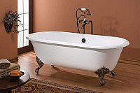 "Cheviot Cast Iron 61"" Regal Clawfoot Bathtub"