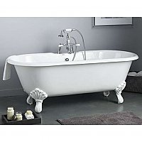 "Cheviot Cast Iron 61"" Regal Clawfoot Bathtub with Shaughnessy Feet"