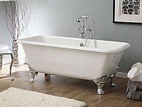 "Cheviot Cast Iron 67"" Spencer Clawfoot Bathtub"