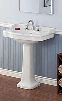Antique Pedestal Lavatory Bathroom Sink