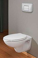 ADA Compliant Contemporary Wall Hung Water Closet or Toilet ADA Compliant - Elongated Front