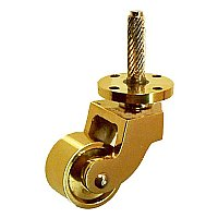 Screw-on Brass Caster