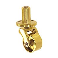 Brass Caster with Plate and Pivot - Small