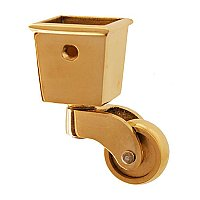 Square Cup Caster - Polished Brass
