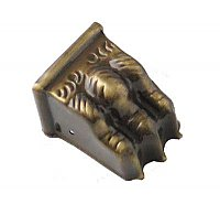 Antique Brass Paw Foot, Medium