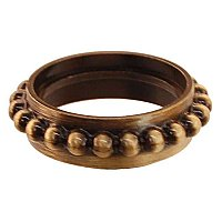 Beaded Caster Ring - Antique Brass
